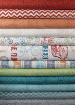 Quilting Treasures, Enjoy the Ride in FAT QUARTERS 10 Total