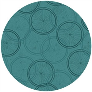 Quilting Treasures, Enjoy the Ride, Wheels Teal