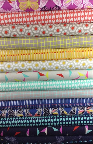 Rashida Coleman Hale for Cotton and Steel, Moonlit in FAT QUARTERS 13 Total