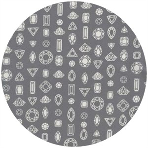 Rashida Coleman Hale for Cotton and Steel, Moonlit, VOILE, Gems Truly Outrageous Grey