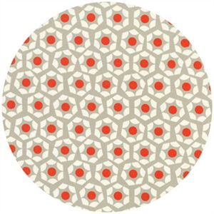 Rashida Coleman Hale for Cotton and Steel, Moonlit, Hexies Paprika