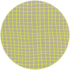 Rashida Coleman Hale for Cotton and Steel, Moonlit, On the Grid Citron