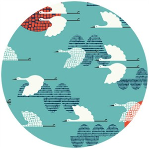 Rashida Coleman Hale, Tsuru, Organic, 1000 Cranes Cerulean