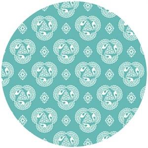 Rashida Coleman Hale, Tsuru, Organic, Old Lace Cerulean