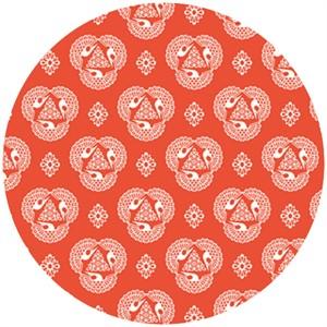 Rashida Coleman Hale, Tsuru, Organic, Old Lace Vermillion