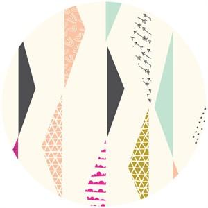 Rashida Coleman-Hale, Koi, Organic, Pennants Waving Ivory