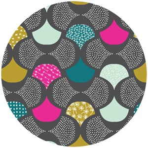Rashida Coleman-Hale, Koi, Organic, Scalloped Edge Gray