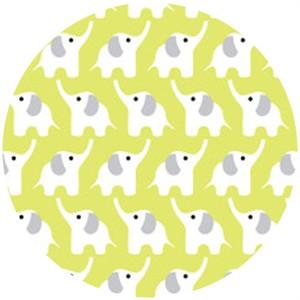 Rae Hoekstra,  Fanfare FLANNEL, Organic, Elephants Citron