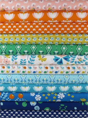 Rae Hoekstra, Lotus Pond, Organic in FAT QUARTERS 12 Total