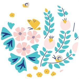 Rae Hoekstra, Lotus Pond, Organic, Meadow Blossoms White