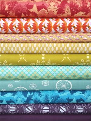 Fabricworm Custom Bundle, Rainbow Rain 10 Total