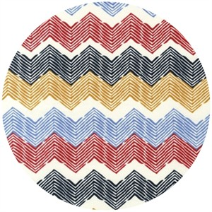 Rebecca Bischoff for Robert Kaufman, Blythe, Combed Chevron Sunset