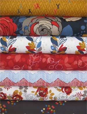 Rebecca Bischoff for Robert Kaufman, Blythe, Sunset in FAT QUARTERS 7 Total