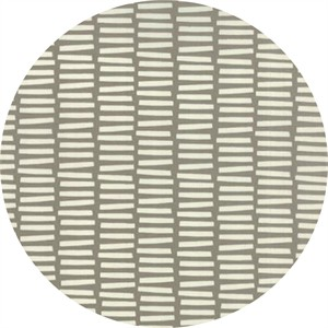 Studio M for Moda, Basic Mixologie Geometrics, Rectangle Stripe Grey