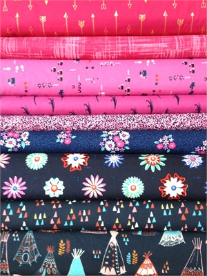 Fabricworm Custom Bundle, Red Sky Night in FAT QUARTERS 9 Total