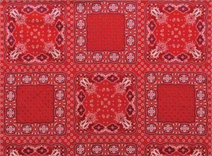 Red Rooster, Soho Bandana, Country Classic Panel Red