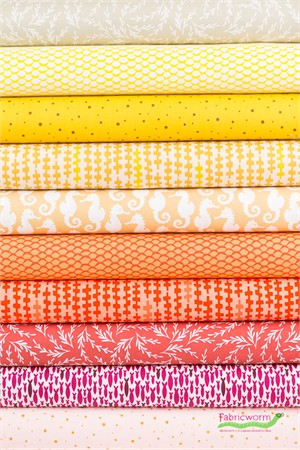 Elizabeth Hartman for Robert Kaufman, Reef, Sunshine in FAT QUARTERS 10 Total
