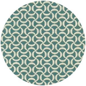 Regal Fabrics, HOME DEC, Squiggle Turquoise