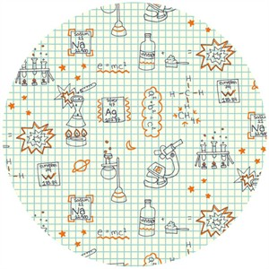 Rebekah Ginda for Birch Organic Fabrics, Robotic, Graph Paper