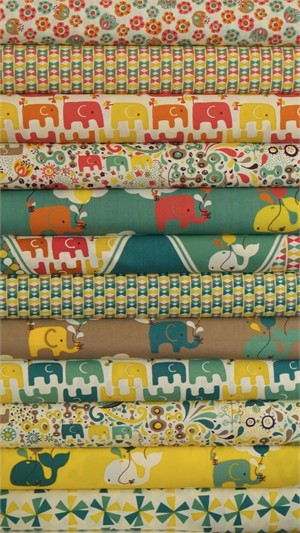 Rebekah Ginda for Birch Organic Fabrics, Frolic, Entire Collection 12 FAT QUARTERS in Total