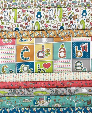 Rebekah Ginda for Birch Organic Fabrics, Picnic Whimsy in FAT QUARTERS 9 Total