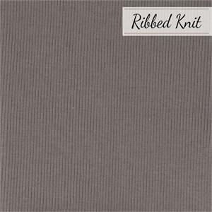 Birch Organic Fabrics, RIBBED KNIT, Shroom