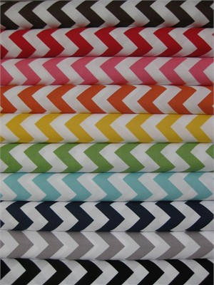 Riley Blake, Chevron, in FAT QUARTERS 11 Total