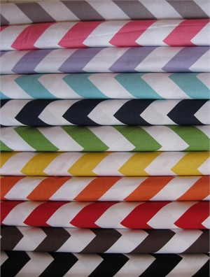 Riley Blake Chevron, Large in FAT QUARTERS 10 Total