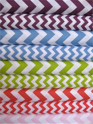 Riley Blake, Chevron, New Colors Sampler in FAT QUARTERS, 10 Total