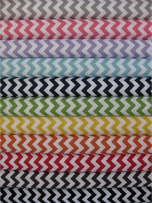 Riley Blake Chevron, Small in FAT QUARTERS 10 Total