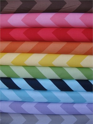 Riley Blake Chevron, Tone on Tone, Large in FAT QUARTERS 9 Total
