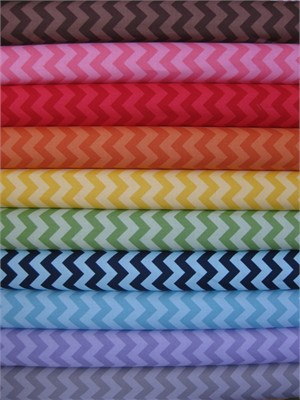 Riley Blake Chevron, Tone on Tone, Small in FAT QUARTERS 9 Total