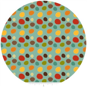 Riley Blake, Giraffe Crossing, Dots Teal