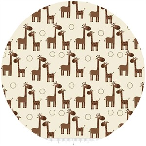 Riley Blake, Giraffe Crossing, Giraffe Cream