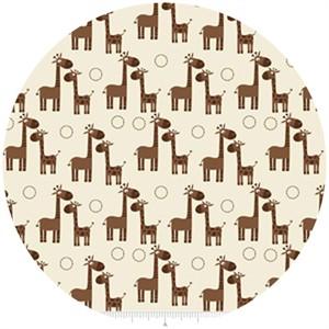 Riley Blake, Giraffe Crossing, Giraffe Cream
