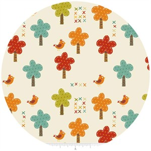 Riley Blake, Giraffe Crossing, Trees Cream