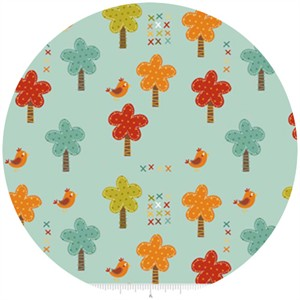 Riley Blake, Giraffe Crossing, Trees Teal