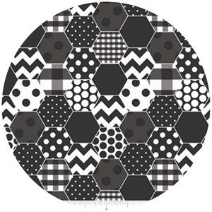 Riley Blake, Hexi Print, Black