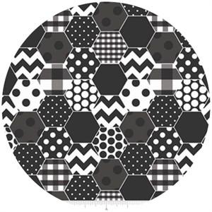 Riley Blake, Hexi Print, Black
