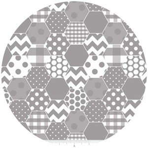 Riley Blake, Hexi Print, Gray