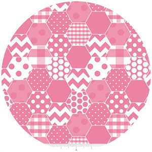 Riley Blake, Hexi Print, Hot Pink