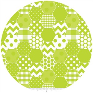 Riley Blake, Hexi Print, Lime