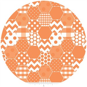 Riley Blake, Hexi Print, Orange