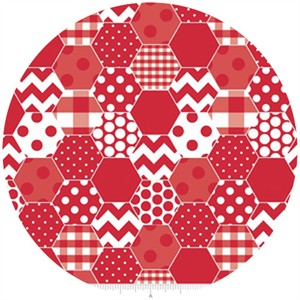 Riley Blake, Hexi Print, Red