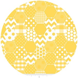 Riley Blake, Hexi Print, Yellow