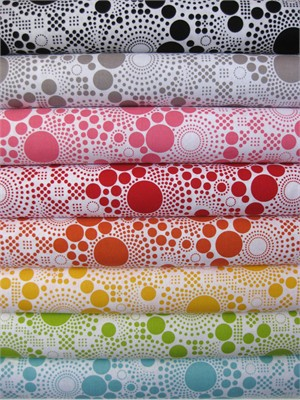 Riley Blake, Hipsters, Pop Sampler in FAT QUARTERS, 8 Total