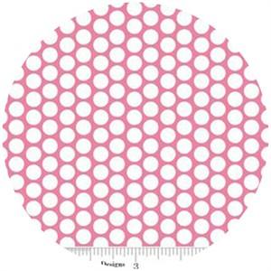Riley Blake, Honeycomb Dot, FLANNEL, Hot Pink