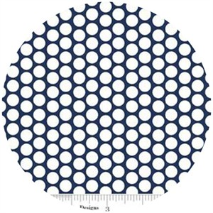 Riley Blake, Honeycomb Dot, FLANNEL, Navy