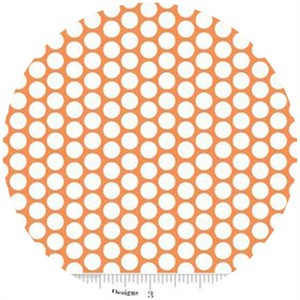 Riley Blake, Honeycomb Dot, FLANNEL, Orange
