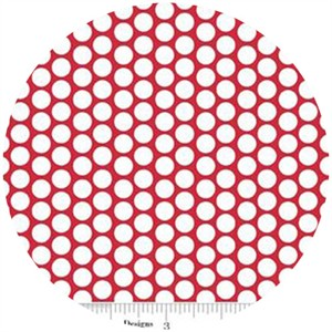 Riley Blake, Honeycomb Dot, FLANNEL, Red